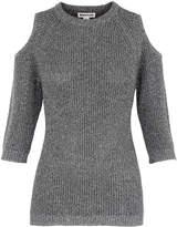Whistles Sparkle Cold Shoulder Knit