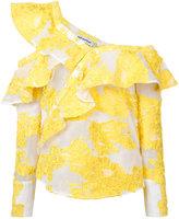 Self-Portrait Filcoupé frill shirt - women - Polyamide/Polyester/cotton - 4