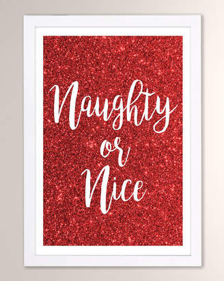 Oliver Gal The Artist Co. Naughty or Nice Framed Print