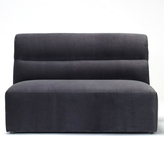 Horizontal Tufted Loveseat - Charcoal