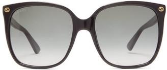 Gucci GG-plaque Square Acetate Sunglasses - Black
