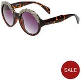 Very Round Floral Frame Festival Sunglasses