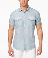 INC International Concepts Men's Vintage Linen-Blend Shirt, Only at Macy's