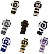 DAP3A01 Multi tripes Microfiber Pre-tied Bow Tie and Skinny Tie Set By Dan Smith