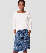 LOFT Petite Baroque Drawstring Pencil Skirt