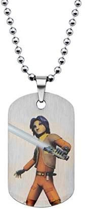 Star Wars Jewelry Boys' Rebel Ezra Dog Tag Chain Pendant Necklace