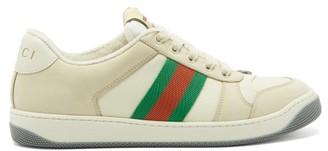 Gucci Screener Leather Trainers - Womens - White Multi