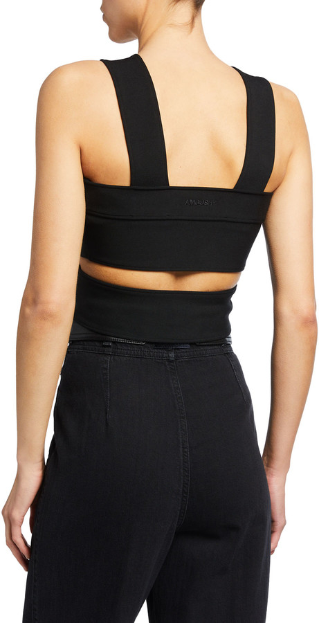 Thumbnail for your product : Ambush Banded Jersey Halter Top