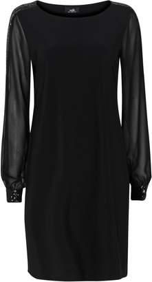 Wallis Black Sequin Cuff Swing Dress