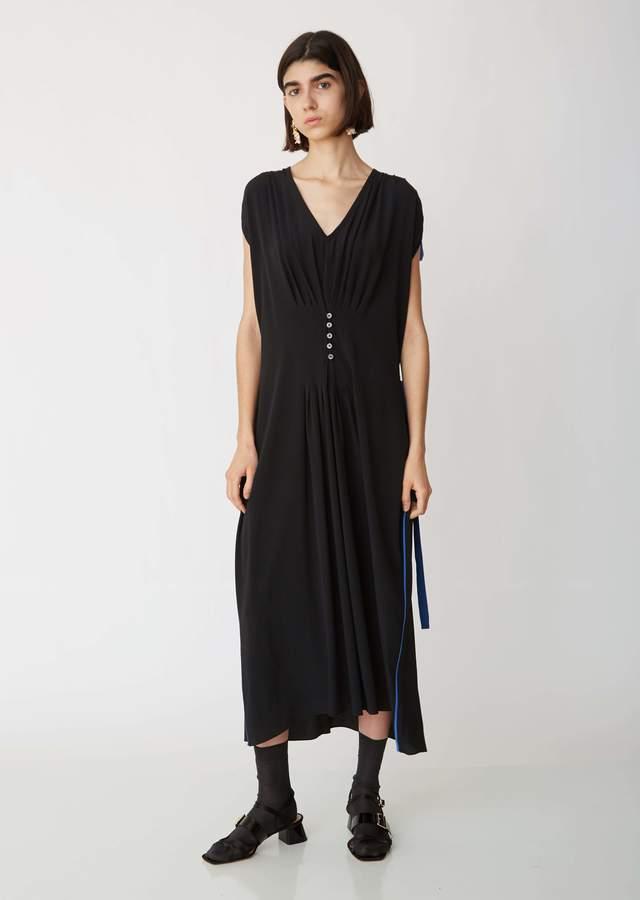 Marni Washed Crepe Short Sleeve Dress