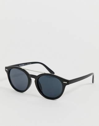 Aj Morgan AJ Morgan round sunglasses with double bar in black