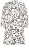Giambattista Valli Cotton Crepe Leaf Print Tunic