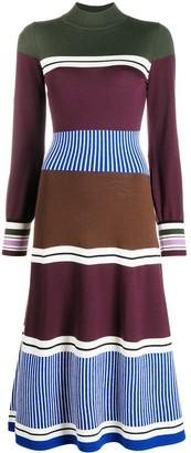 Chinti and Parker Panelled Wool Knit Dress