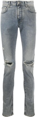 Represent Ripped Knees Skinny Jeans