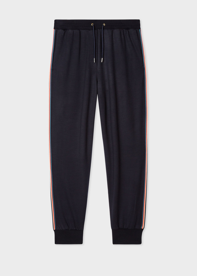Thumbnail for your product : Women's Dark Navy 'Artist Stripe' Wool Sweatpants