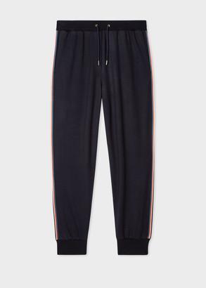 Paul Smith Women's Dark Navy 'Artist Stripe' Wool Sweatpants