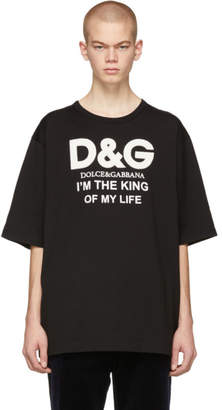 Dolce & Gabbana Black King Of My Life T-Shirt