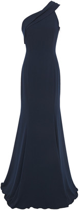 Jay Godfrey One-shoulder Stretch-crepe Gown