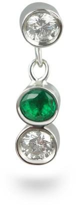 Lena Cohen Fine Jewellery 18K White Gold Emerald Diamond Piercing Stud
