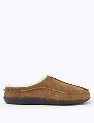 Marks and Spencer Suede Apron Seam Mule Slippers