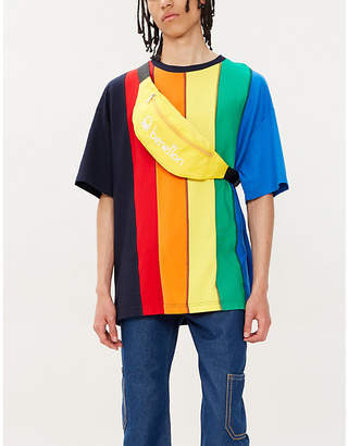 Benetton Multi-colour striped cotton-jersey T-shirt