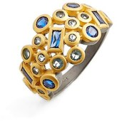 Freida Rothman Modern Mosaic Cluster Ring