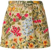 RED Valentino embroidered floral skorts