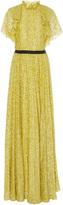 Lela Rose Ruffle Halter Neck Gown