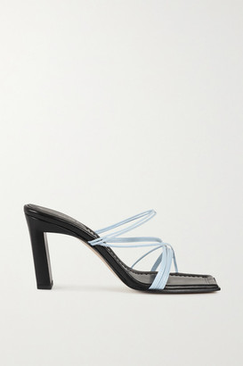 Wandler Joanna Two-tone Leather Sandals - Black