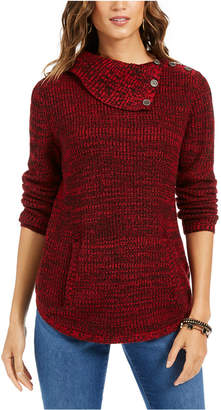 Style&Co. Style & Co Petite Envelope-Neck Sweater