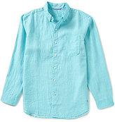 Tommy Bahama Sea Glass Breezer Long-Sleeve Solid Woven Linen Shirt