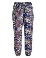 Fashion World Cropped Ornate Folk Crop Harem Trousers