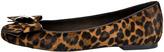 Stuart Weitzman Showtune Leopard-Print Calf Hair Ballerina Flat