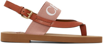 Chloé Pink Woody Flat Sandals