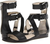 MICHAEL Michael Kors Josephine Sandal (Black Vachetta) - Footwear
