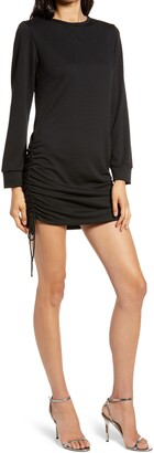 Fraiche by J Ruched Long Sleeve Minidress