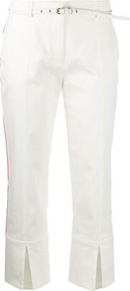 Emilio Pucci Side-Stripe Split-Hem Cropped Trousers