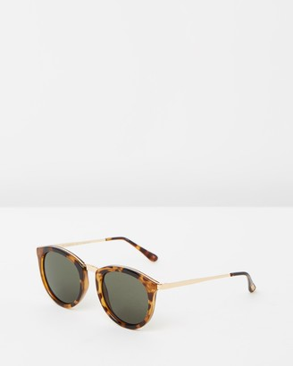 Le Specs Women's Brown Round - No Smirking Tort and Gold Round Sunglasses-DISCONTINUED - Size One Size at The Iconic