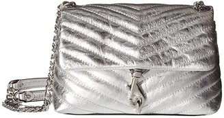 Rebecca Minkoff Edie Crossbody (Silver) Cross Body Handbags