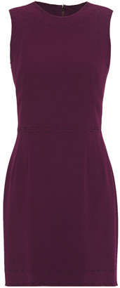 Dolce & Gabbana Embroidered Stretch-crepe Mini Dress