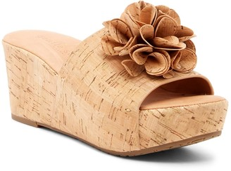 Gentle Souls by Kenneth Cole Forella Flower Cork Wedge Sandal