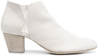 Officine Creative Cut-Out Detail Leather Ankle Boots