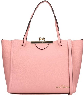 Marc Jacobs Tote In Rose-pink Leather
