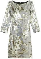 Vince Camuto Floral-print Sequin Dress
