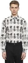 Dolce & Gabbana Pineapple Printed Cotton Poplin Shirt