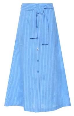 Diane von Furstenberg Striped linen midi skirt