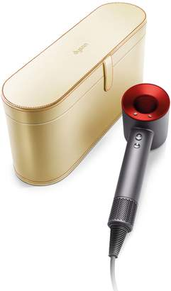 Dyson Supersonic Hair Dryer (Iron/Red) with Gold Case