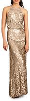 Donna Morgan Tiffany Embellished Halterneck Dress