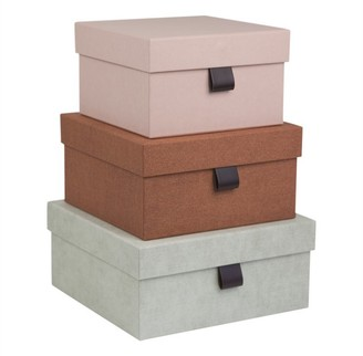 Bigso Box Of Sweden Oui X Bigso Tilly Nested Storage Boxes Pink Orange Set Of 3