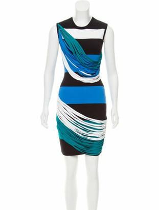 Ohne Titel Striped Bodycon Dress w/ Tags Black